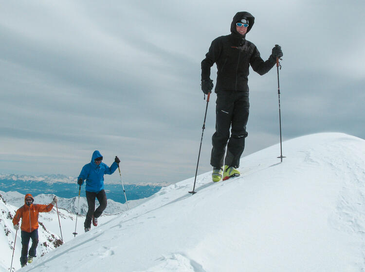 Skitouen Gipfel Cevedale