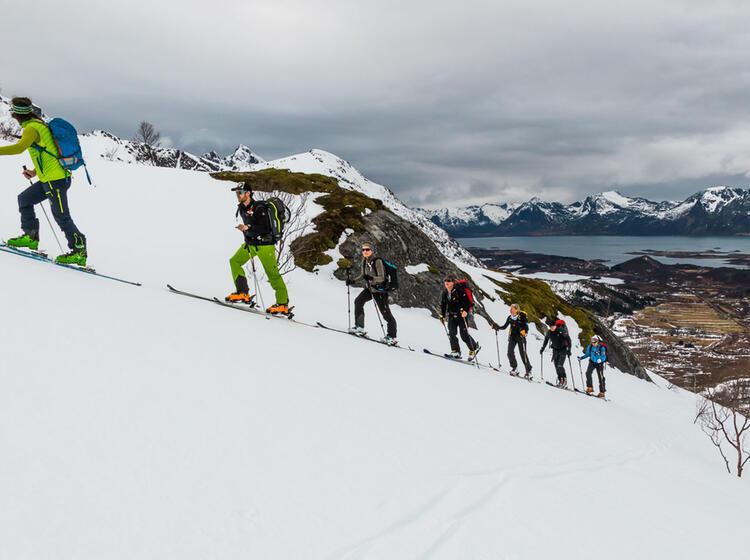 Skitour Auf Den Lofoten In Norwegen