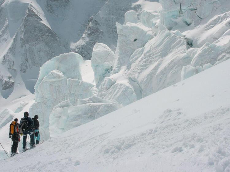 Skitour Zum Mont Blanc Gletscher