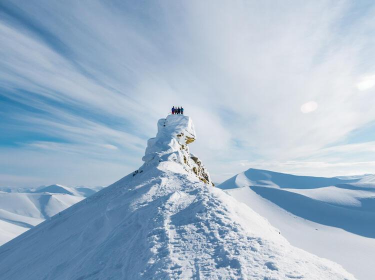 Skitour Zum Trolltinden Auf Spitzbergen Von Longyearbyen