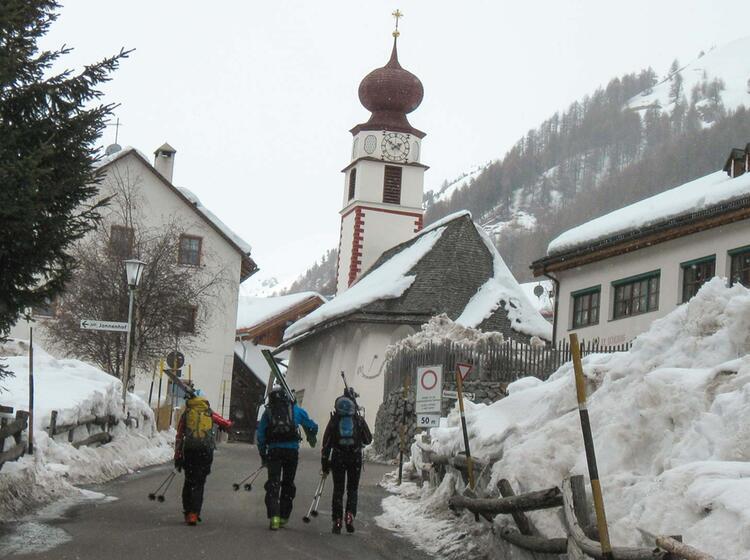 Skitour Zur Sesevenna Huette