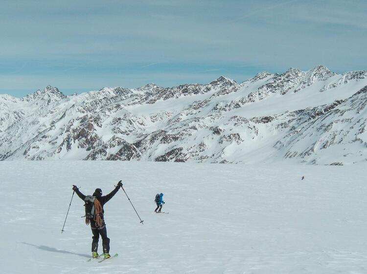 Skitouren Abfahrt Cevedale
