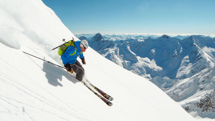 Skitouren Abfahrt Im Wallis 2