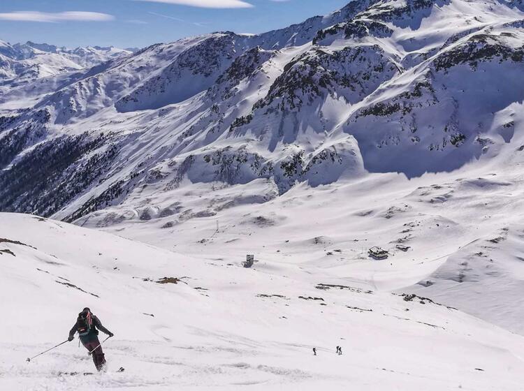 Skitouren Abfahrt Zur Sesvennahuette