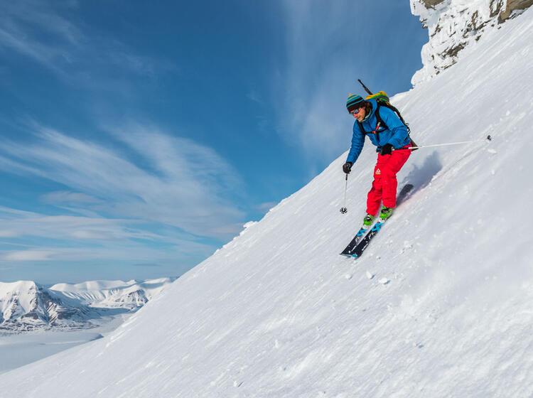 Skitouren Abfahrten Auf Spitzbergen