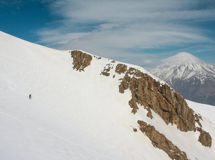 Skitouren Am Damavand Auf Der Skitourenreise Im Iran