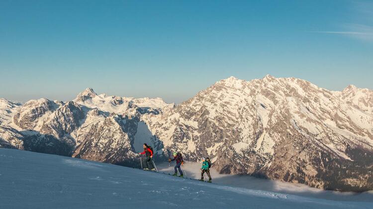 Skitouren Durchquerung Der Berchtesgadener Alpen Mit Bergfuehrer Auf Der Grossen Reibn