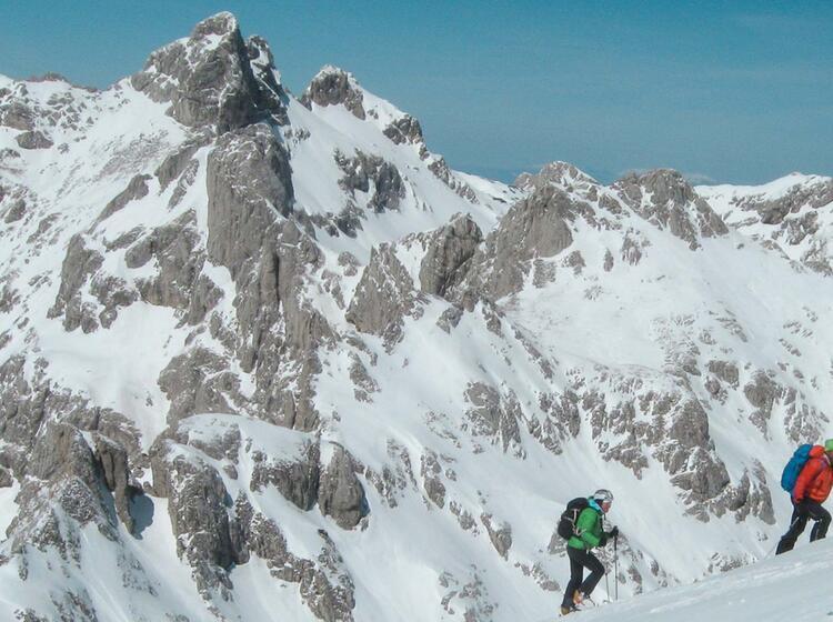 Skitouren Durmitor Gebirge Montenegro