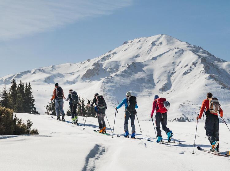 Skitouren Gipfel In Kirgistan