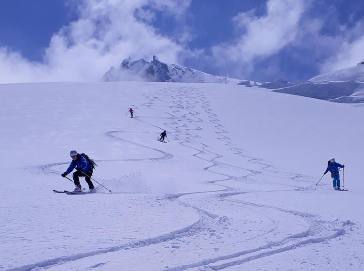 Skitouren In Den Westlichen Oetztaler Alpen Auf Der Langtalereckhuette