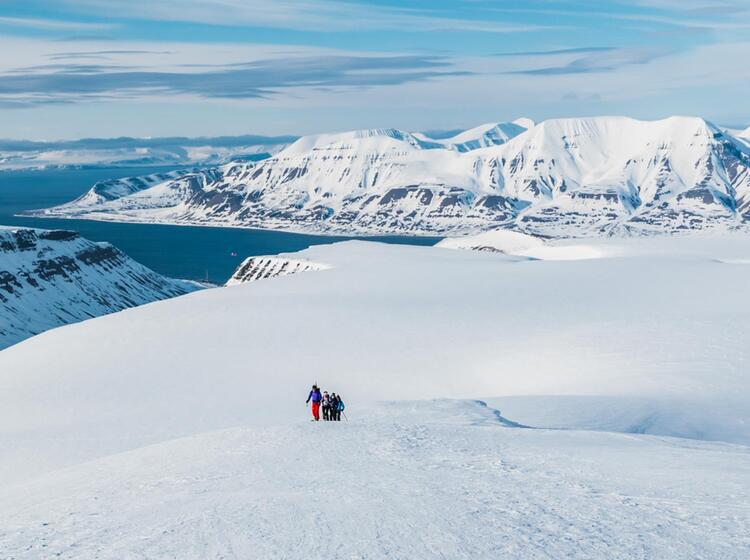 Skitouren In Der Polarregion Spitzbergen