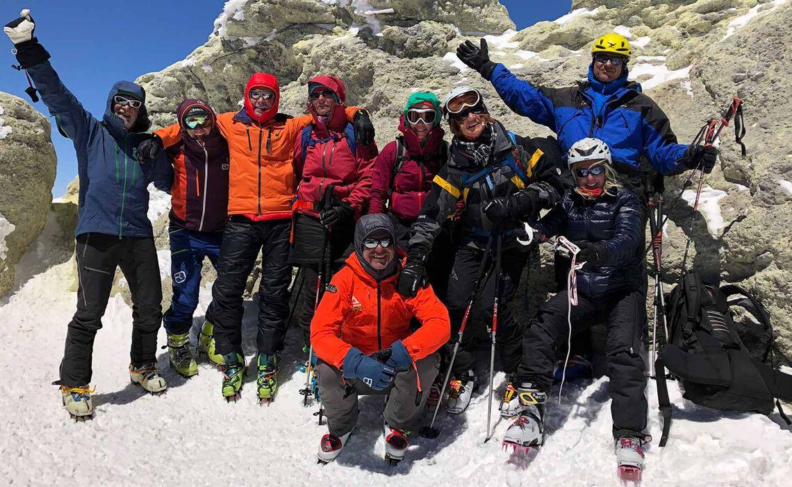 Skitouren Iran Gipfelerfolg Am Damavand