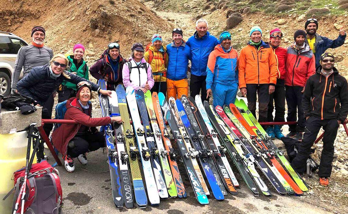 Skitouren Iran Vor Dem Aufstieg Zum Damavand