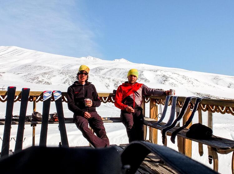 Skitouren Kombination Land Und Schiff Kamchatka