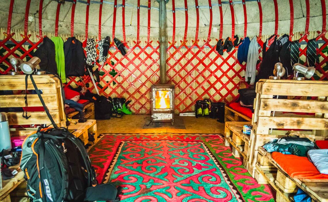 Skitouren Mit Basis In Yurten In Kirgistan