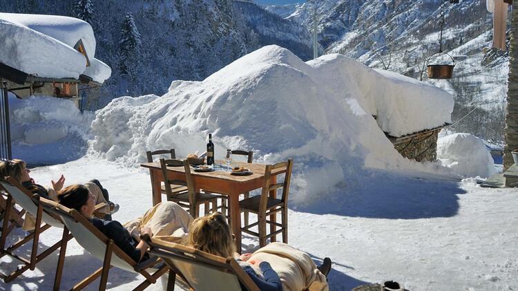 Skitouren Valle Maira Ausblick Von Der Pensione Ceaglio