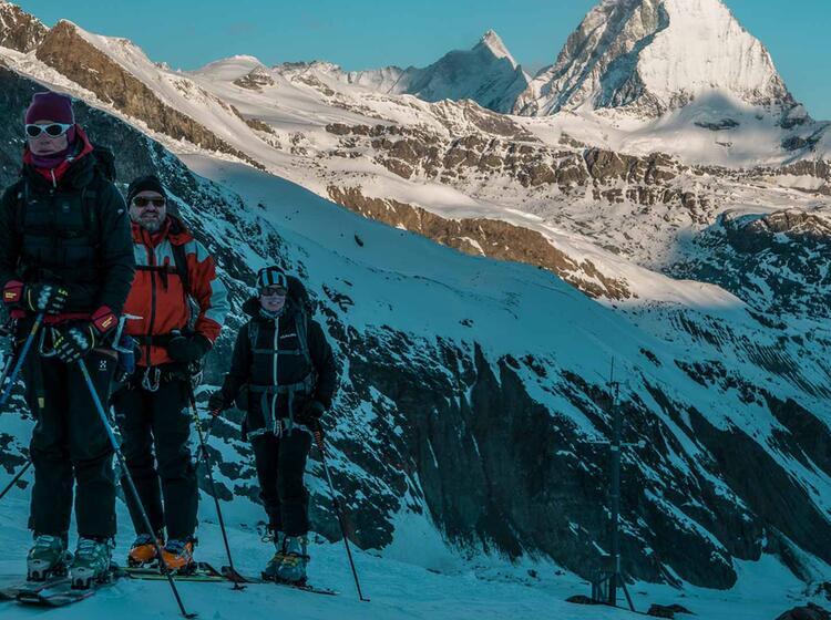 Skitouren Viertausender Im Wallis