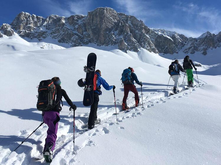 Skitourenkurs Fuer Snowboarder