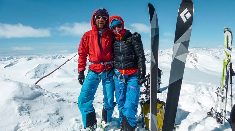 Sktiouren Gipfel In Den Rocky Mountains