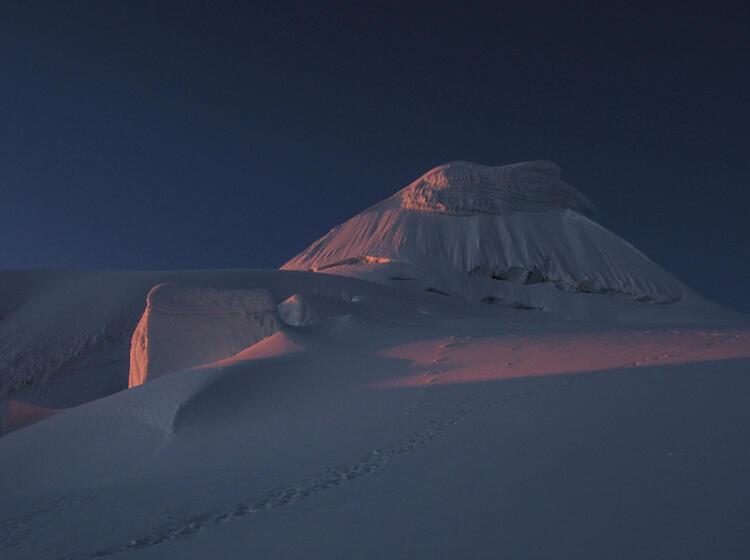 Sonnen Aufgang Am Alpamayo