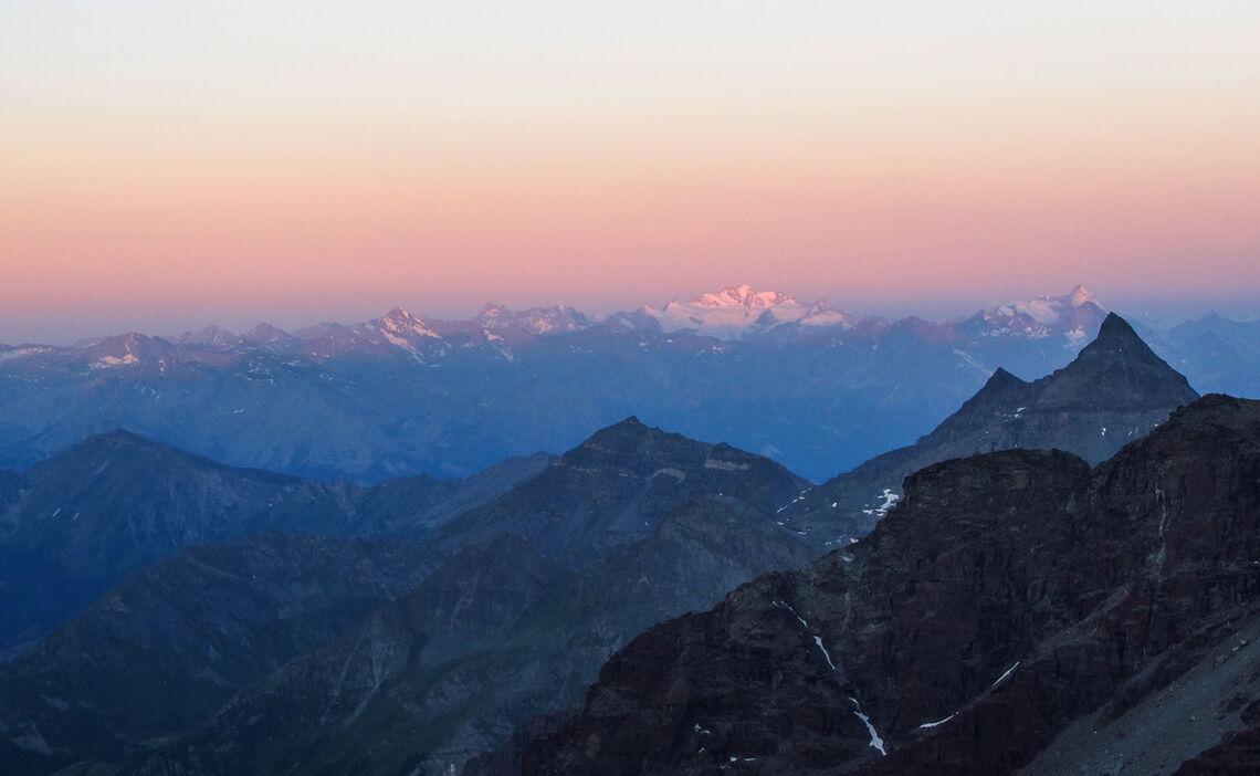 Sonnenaufgang Mit Blick Zum Mont Blanc