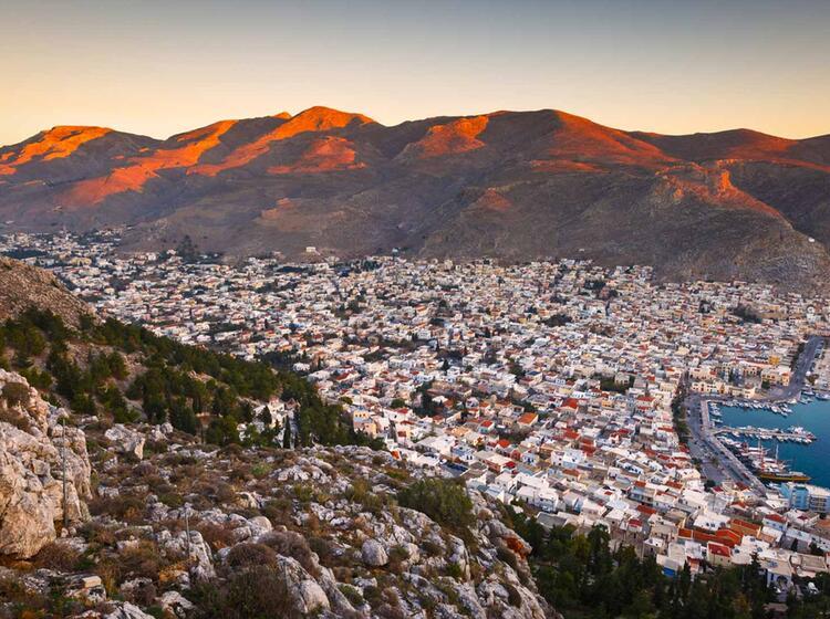 Sonnenuntergang Auf Kalymnos 4