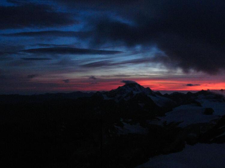 Sonnenuntergang In Der Bernina Gruppe