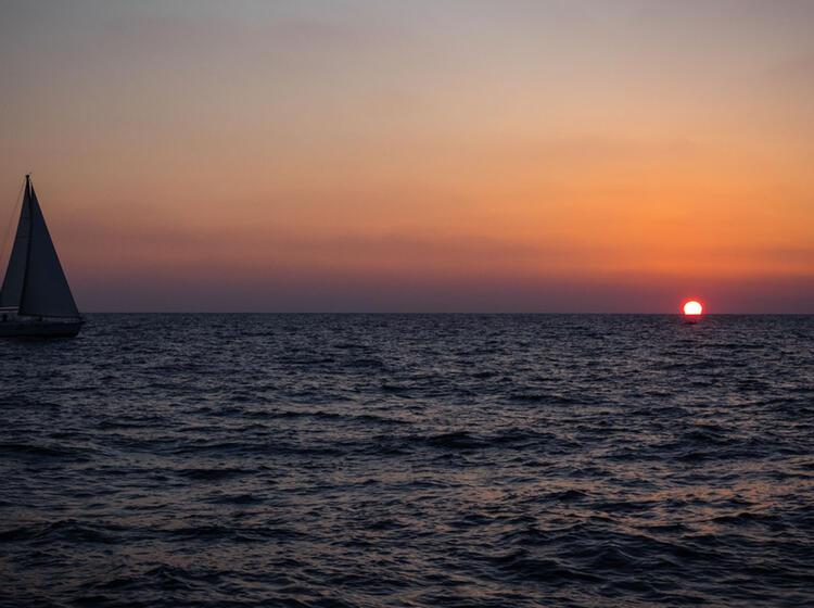 Sonnenuntergang Vor Kalymnos Wa Hrend Der Kletterreise