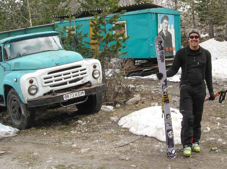 Sowjet Relikte Auf Der Skitourenreise In Russland