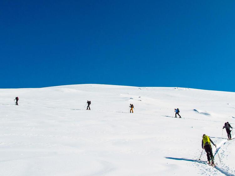 Spitzkehren U Ben Am Skitourenkurs Garmisch