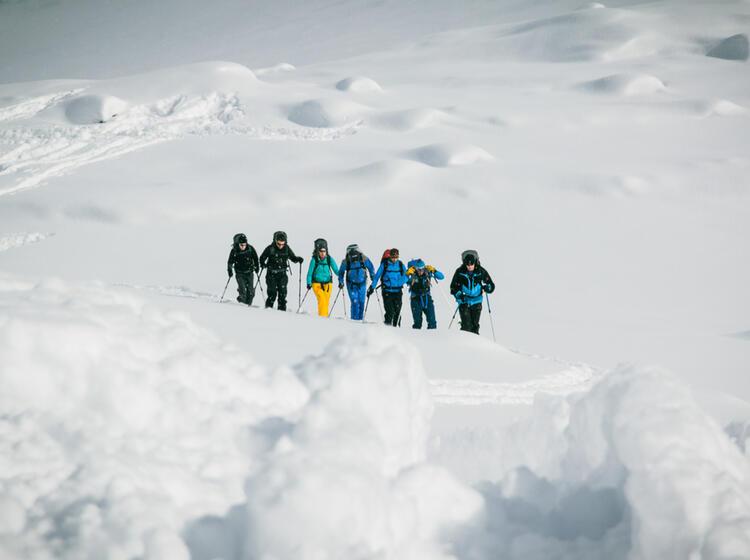 Spuranlage Auf Dem Skitourenkurs Silvretta