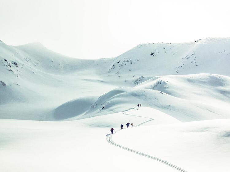 Spuranlage Zur Dreilaenderspitze In Der Silvretta