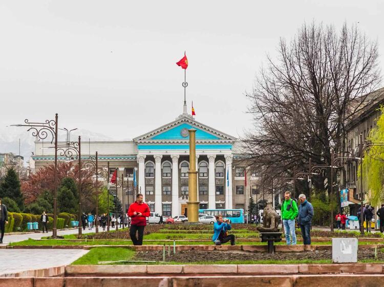 Stadtbesichtigung Bishkek Nach Der Trekking Reise Kirgistan