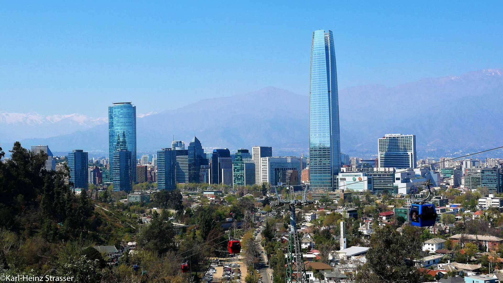 Stadtvirtel Providencia mit Gran Torre