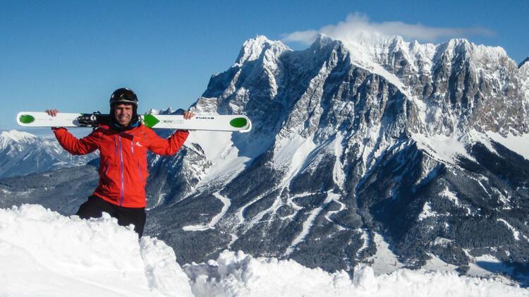 Stefan Biggel Freeriden An Der Zugspitze