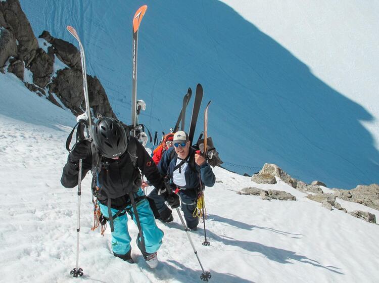Steiler Aufstieg Am Grossglockner