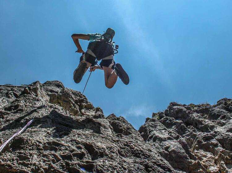Sturztranining Kletterkurs Blautal
