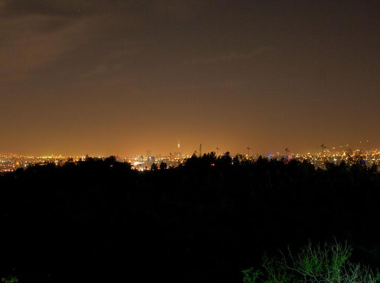 Teheran Bei Nacht Am Damavand