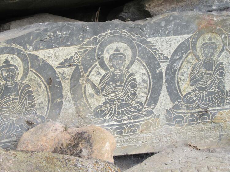 Tibetischer Mani Stein Nepal