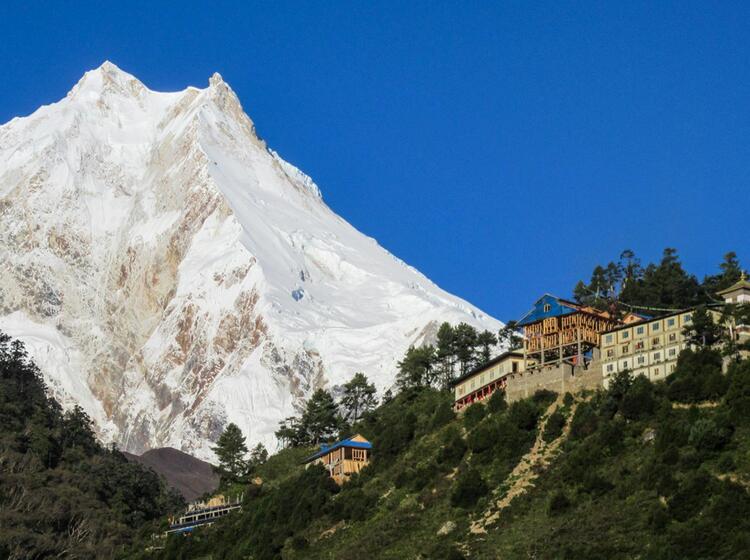 Tibetisches Kloster Am Manaslu Circuit