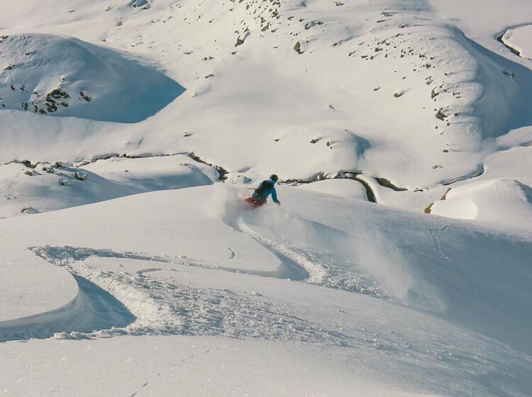 Tiefschneefahren Lernen Mit Skilehrer
