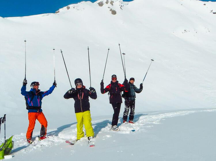 Tiefschneekurs An Der Zugspitze In Garmisch