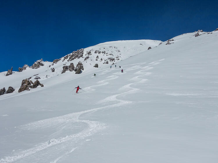 Traum Abfahrt Im Val Muestair Auf Skitour