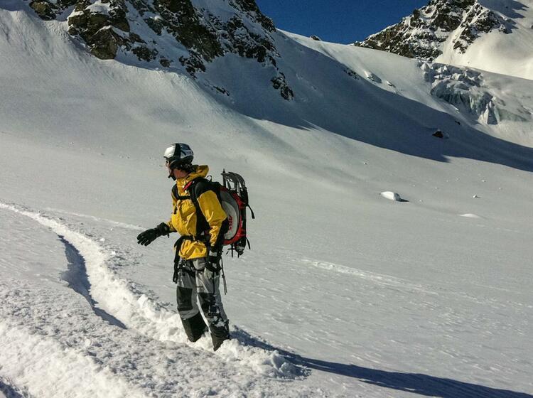 Traum Abfahrt Mit Dem Splitboard Am Gletscher