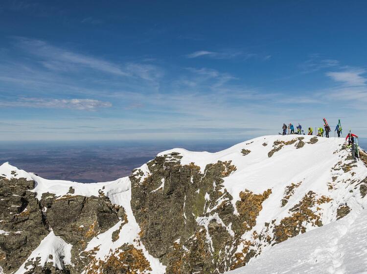 Traum Ausblick Aus Den Rumaenischen Karpaten Beim Skitouren Gehen