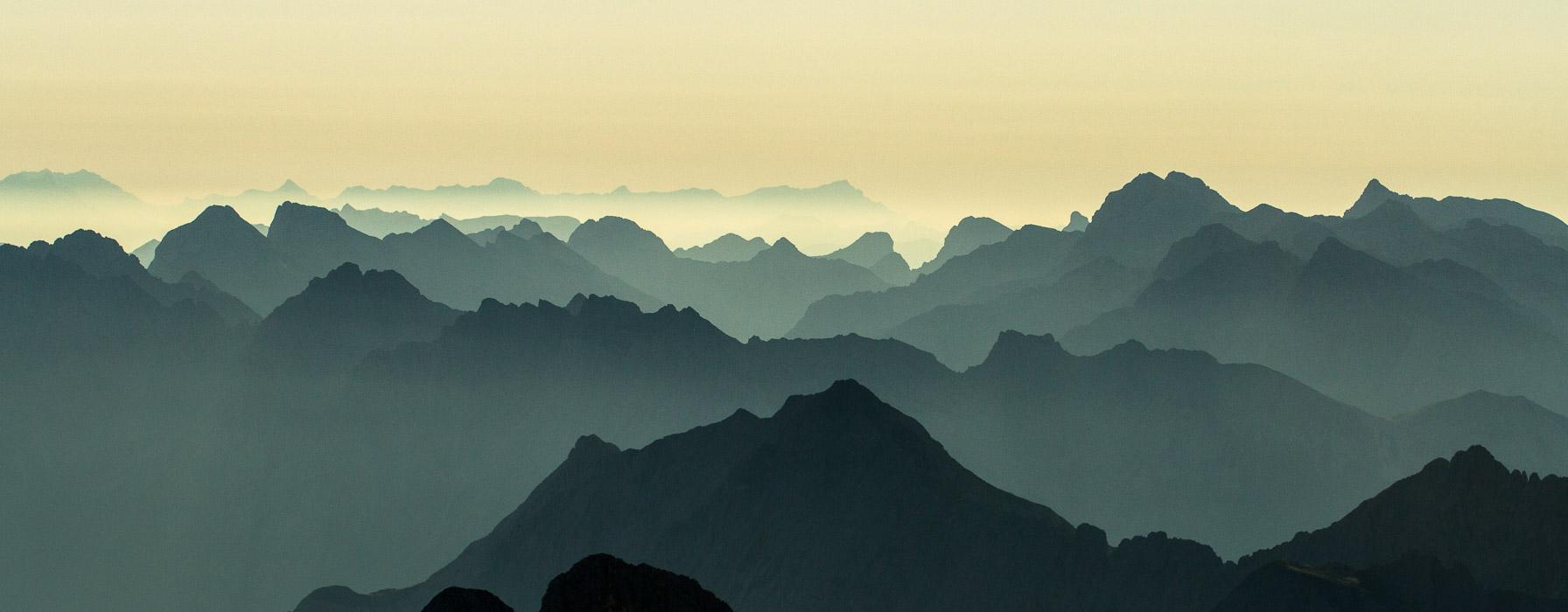 Traum Aussicht in den Alpen auf Hochtour