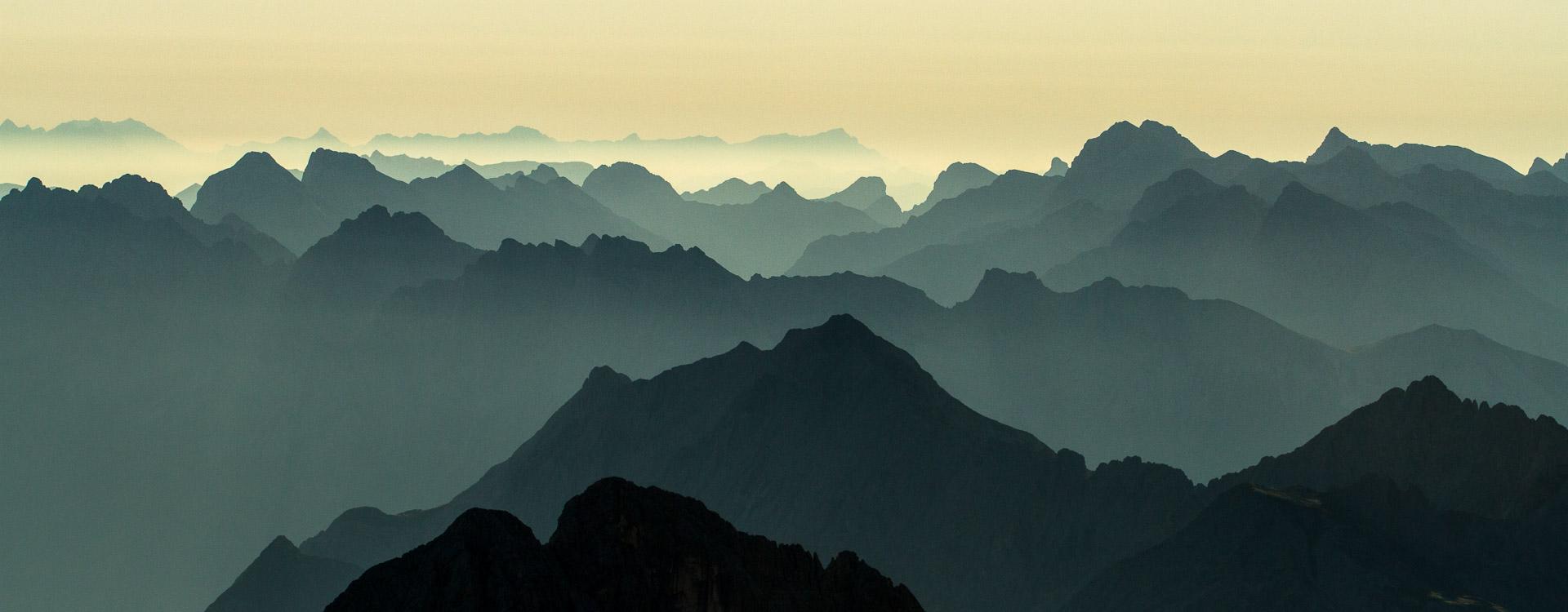 Traumhafter Ausblick von der Zugspitze nach dem Klettersteig Jubilaeumsgrat