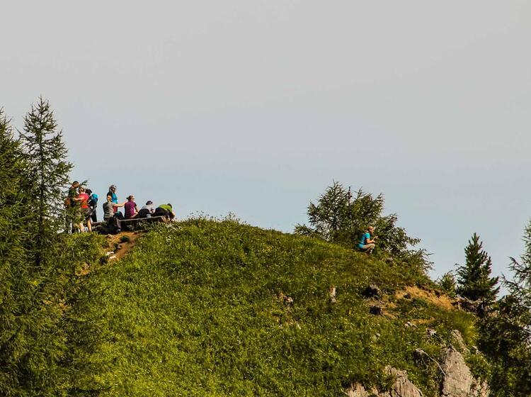 Traumhafter Pausenplatz Im Steinernen Meer Auf Der Huettenwanderung