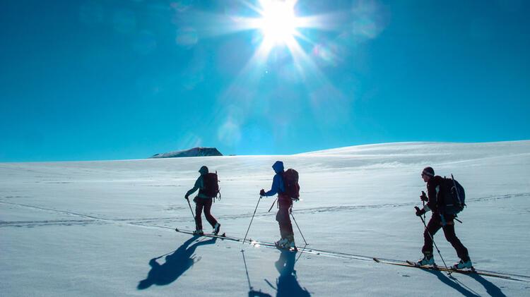 Traumverhaeltnisse Auf Skitour