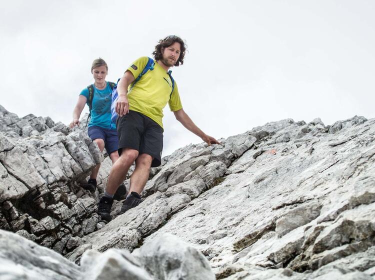Ueber Den Nordwandsteig Absteigen Von Der Alpspitze